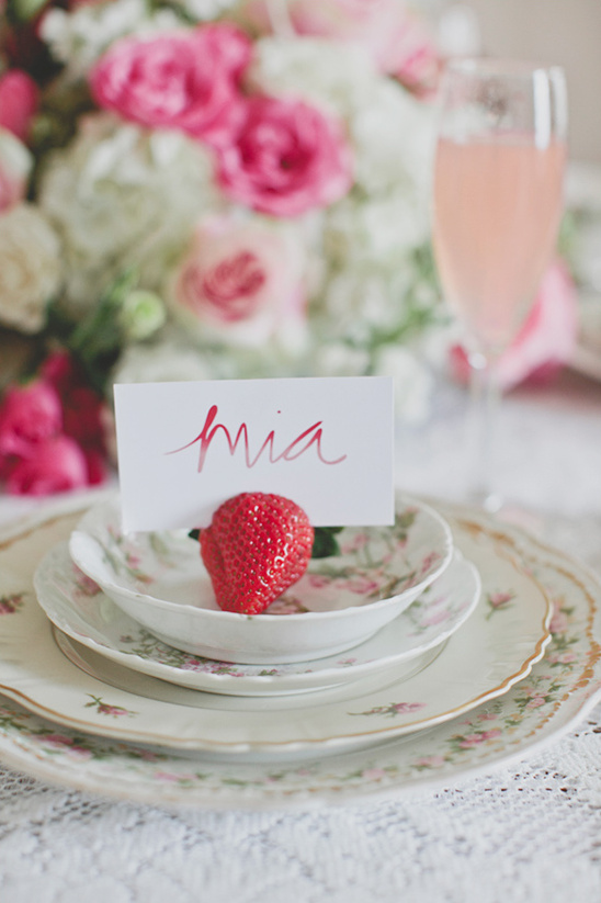 strawberry place card