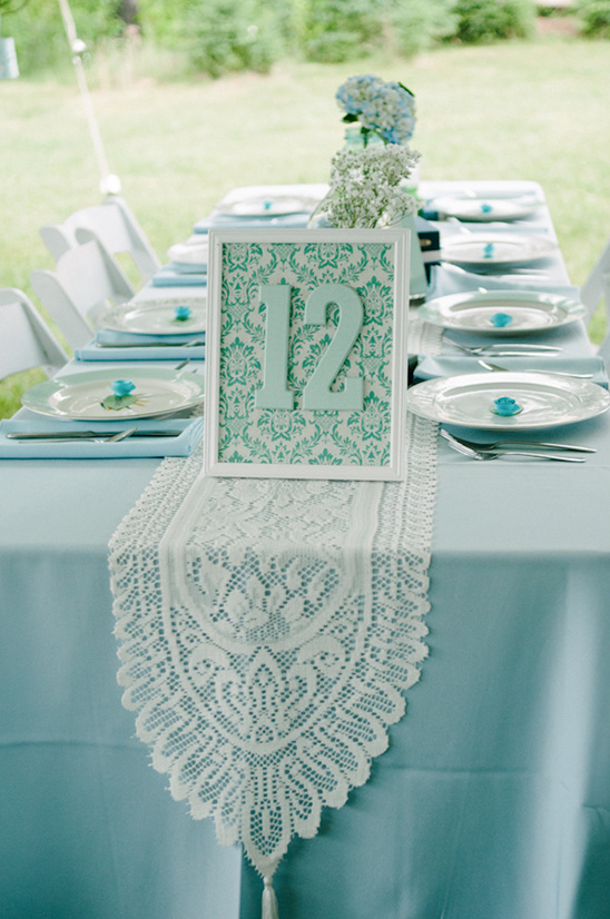 patterned table numbers