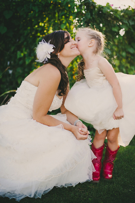 flower girl in cowgirl boots