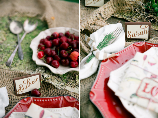 seating placard ideas from Pressed Cotton