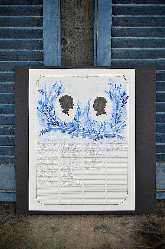 handpainted guest book