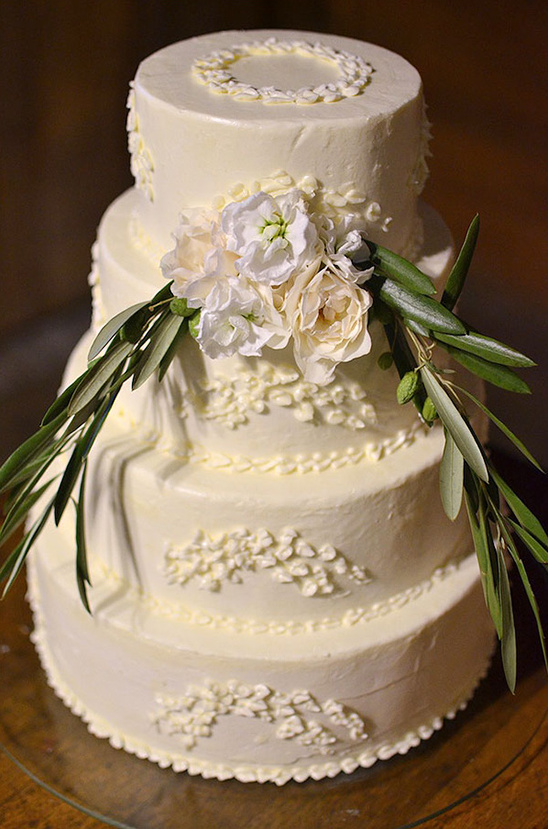 white wedding cake by Taylor Made Cakes