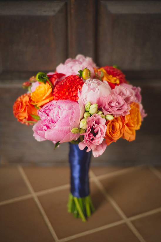 pink, red and orange bouquet by Paradise Delight