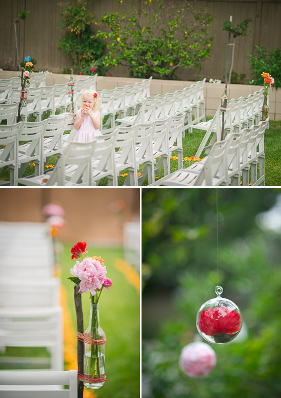 diy backyard ceremony decor