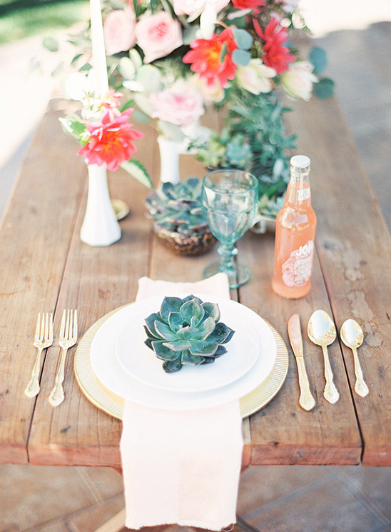 succulent place settings