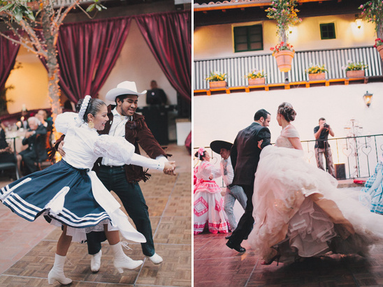 spanish dancers at wedding reception