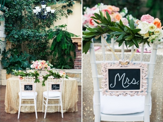 mr and mrs chalkboard chair signs