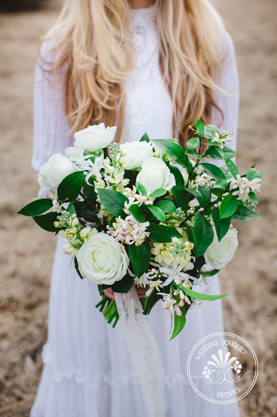 white and green bouquet by Ashley Fox Designs