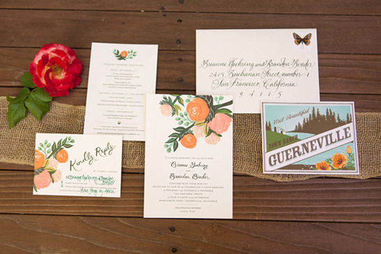 vintage wedding invites by Rifle Paper Co.