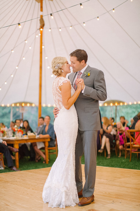 wedding dancing under tent