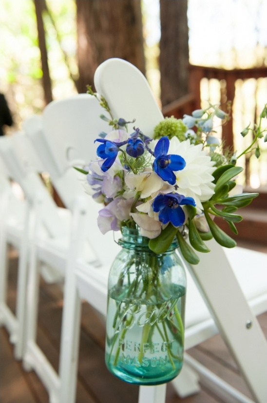 Rustic Blue And White Wedding
