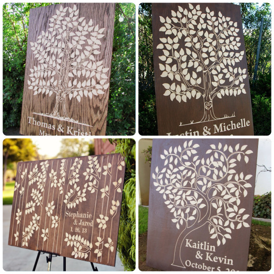 Different shapes and sizes - Wooden Guest Book Trees