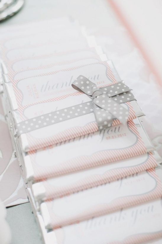 custom wedding candy bar labels by Paper & Poste