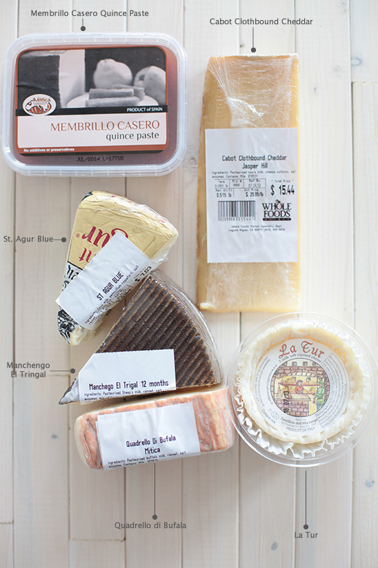 cheeses for a cheese board