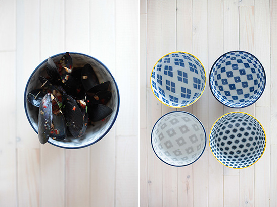 ikat bowls from West Elm