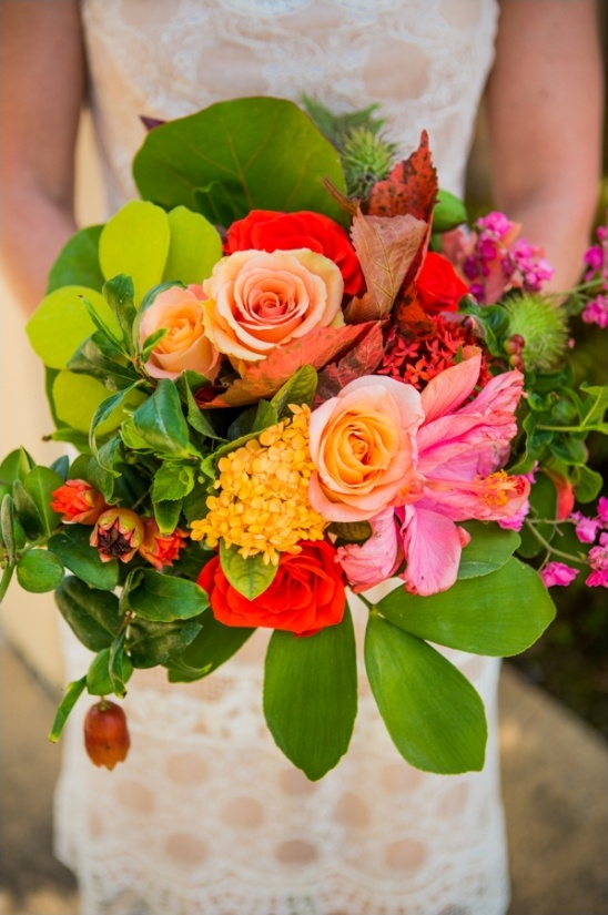 bright wedding bouquet by Isari Flower Studio