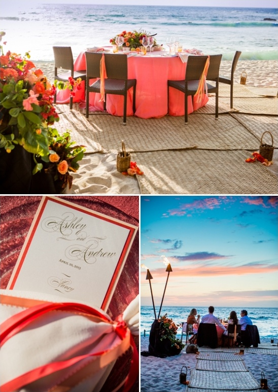 beach side wedding reception