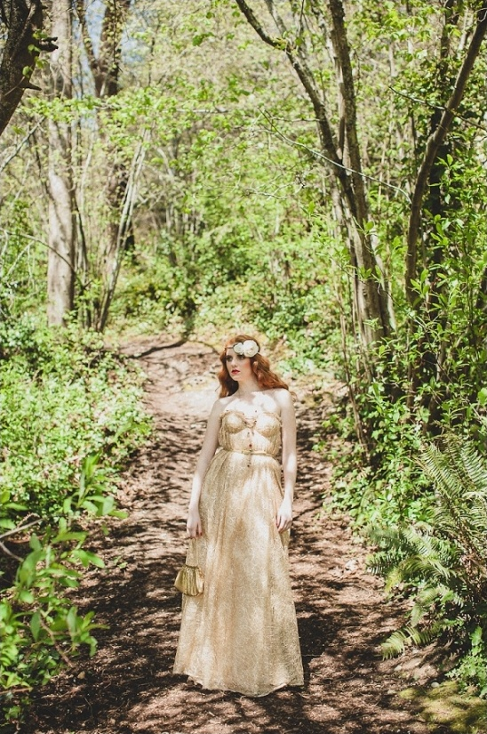 gold bridal gown from The Dress Theory Bridal Shop