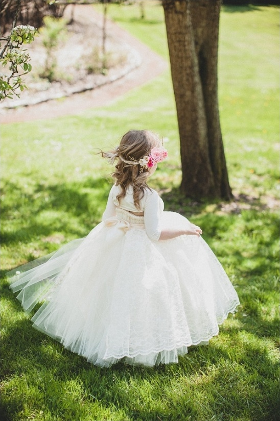 flower girl dress by Little Dreamers Tutu