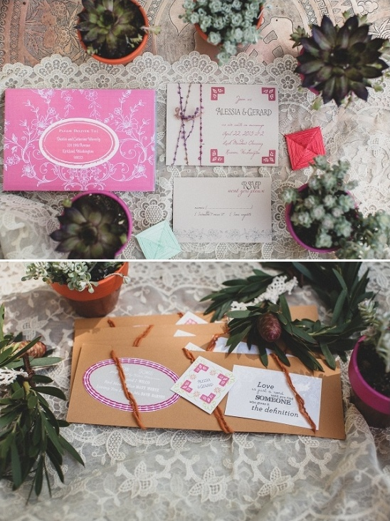 wedding invitation by Just Milled