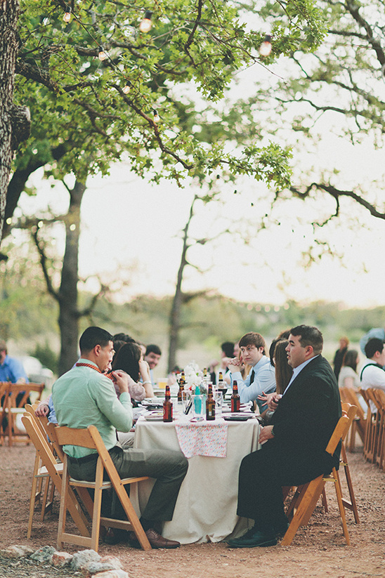 outdoor wedding reception