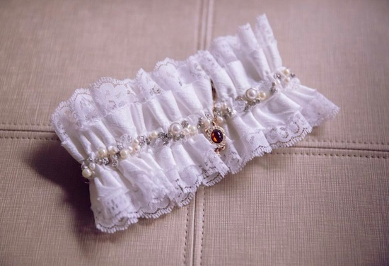 Custom Wedding Garter For La Gartier Bride Jataura Smith