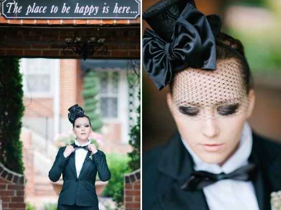 black birdcage and top hat