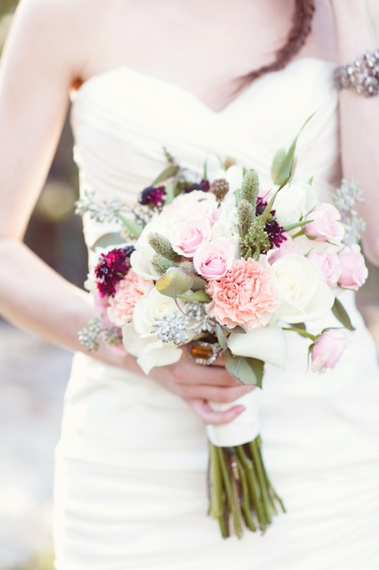 light pink wedding bouquet by Posey Floral and Event Design
