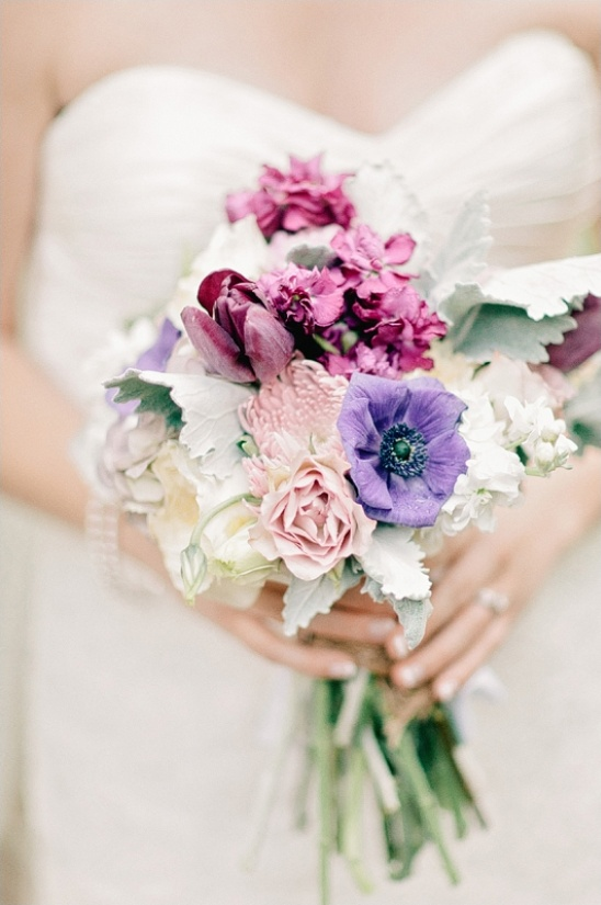 pink and purple bouquet by All Occasion Flowers