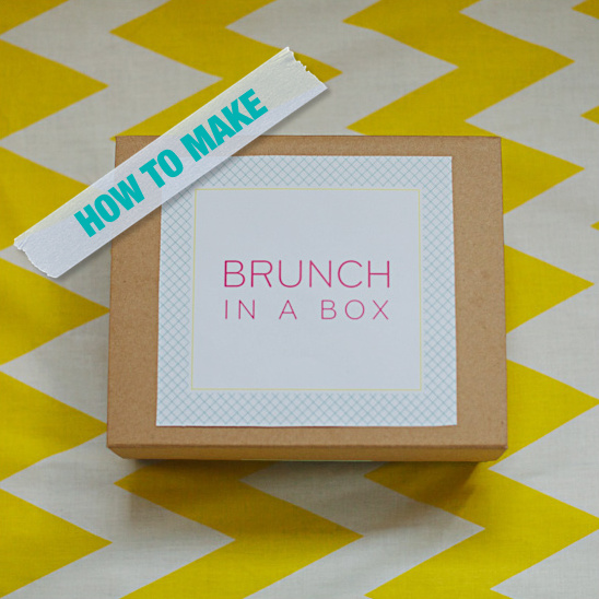 How to make brunch in a box