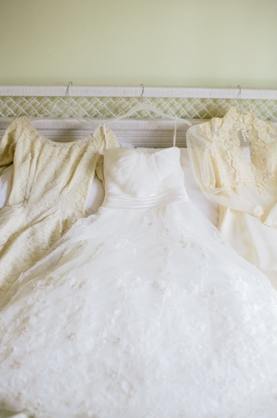 three generations of wedding gowns