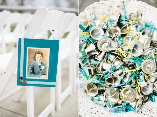 blue ceremony decor