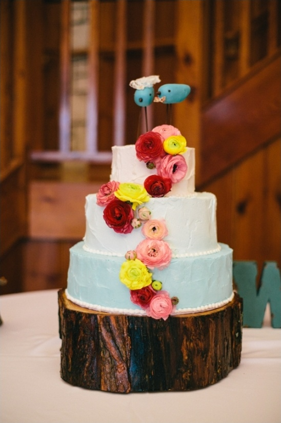 blue ombre wedding cake by Icing on the Cake
