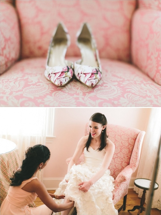 printed wedding shoes