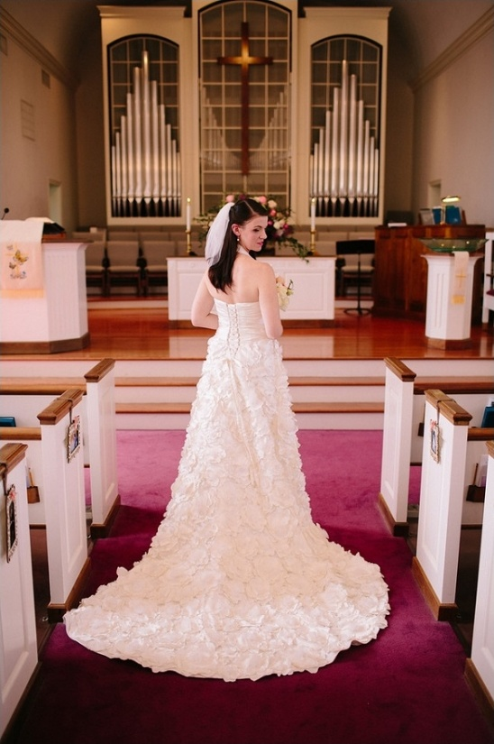 floral detailed wedding gown