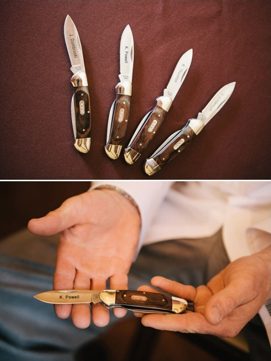 groomsman personalized knife gifts