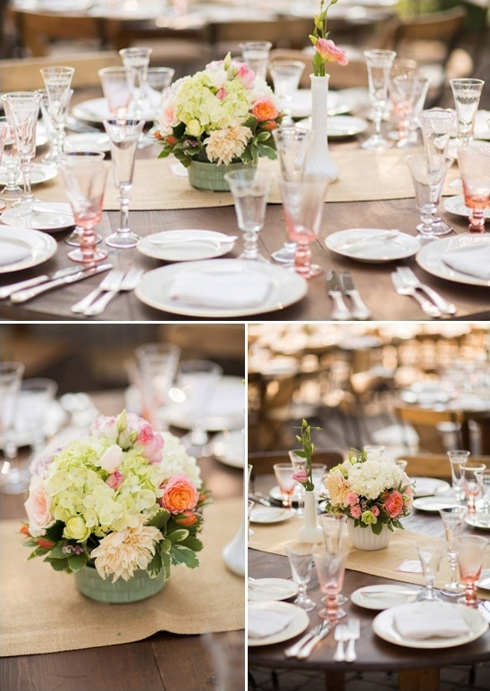 pink and greeen floral centerpiece ideas
