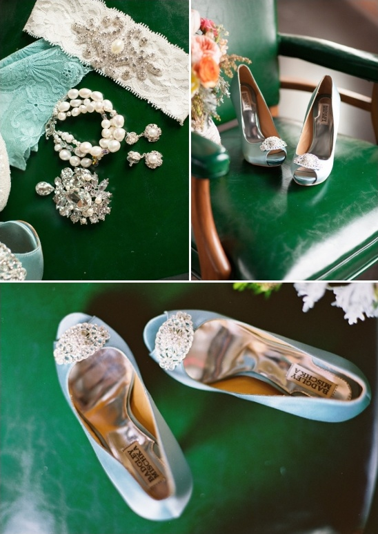 blue wedding heels by Badgley Mischka