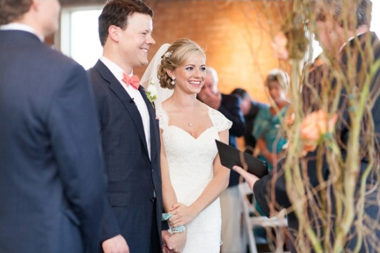 wedding ceremony at The Filter Building