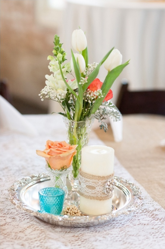 lace and burlap table decor ideas