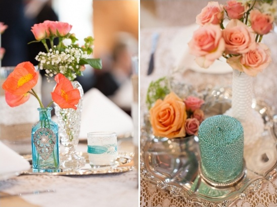 blue and white table decoration ideas