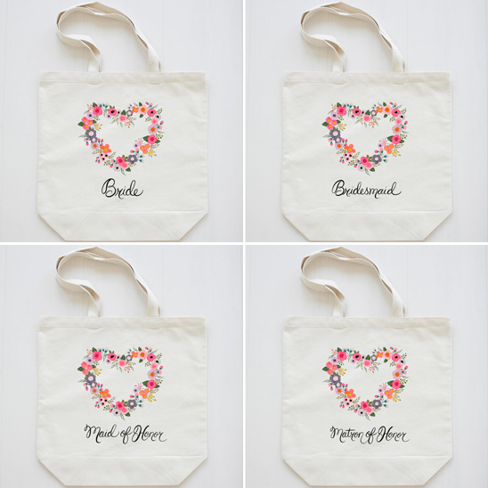 Wedding Chicks Blushing Hearts Tote Collection