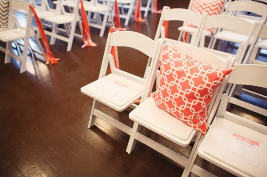 pillows as ceremony decor