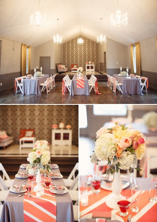 Coral And Gray Decoration Ideas From Champagne Wedding Coordination