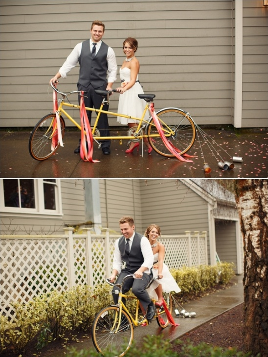 tandem bicycle as get away transportation