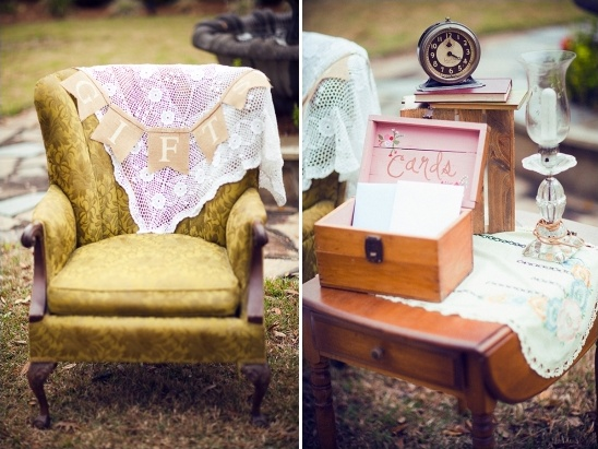 vintage furniture for cards and gifts