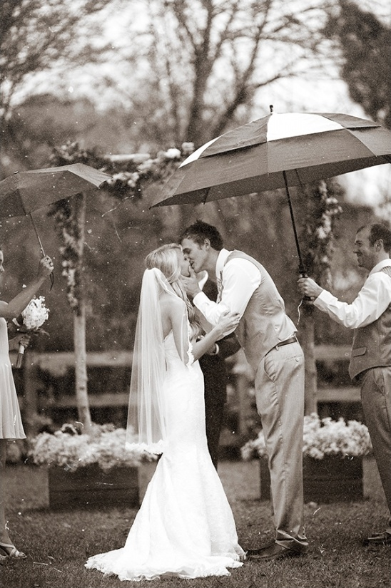 outdoor ceremony in rain