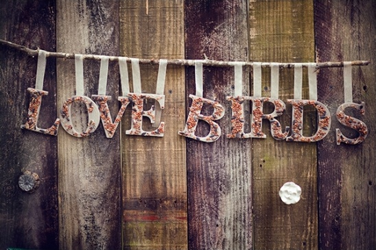 Love Birds sign