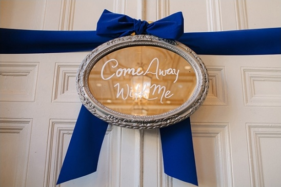 Come Away With Me mirror sign