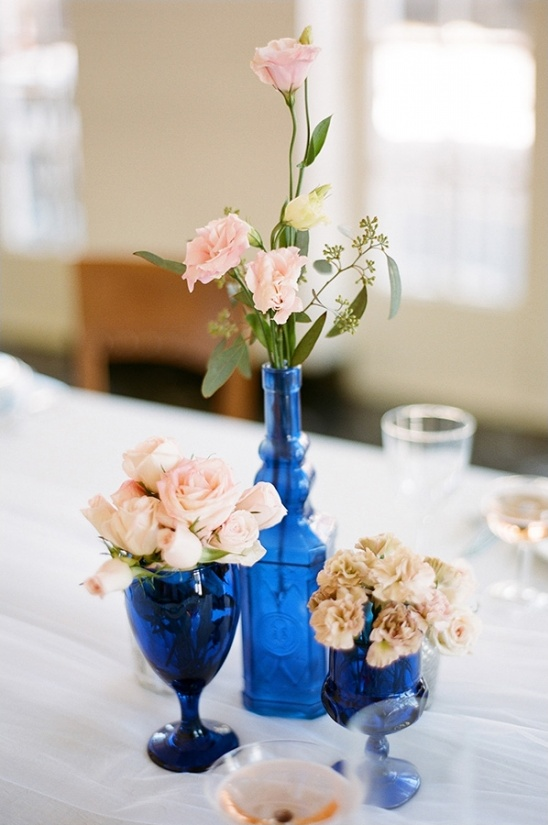 blue and pink centerpiece ideas